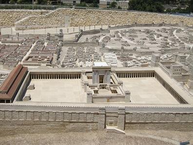 The Temple in Jerusalem. Model Israel Museum, Jerusalem. Photo: UK.