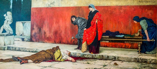 Acte fetching Nero's body after his suicide in order to bury him. The State Russian Museum, Saint Petersburg.