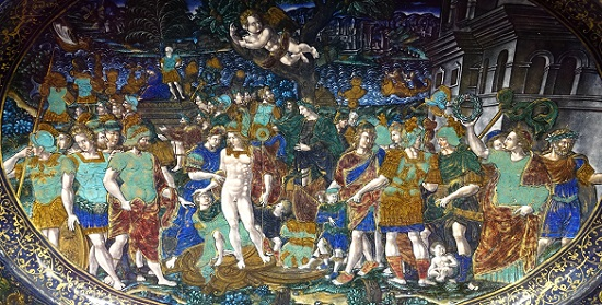 The triumph of Titus. Painting on Limoges dinnerware of Jean de Court, 16th century AD. Photo: UK.