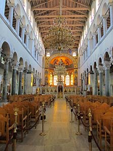 Interior of the Church of St. Demetrios. Photograph: KW.