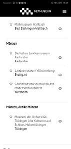 Die Netmuseum-App zeigt alle Ausstellungen in ihrer Umgebung. Sie können jedoch auch selbst thematisch alle Museen in Baden-Württemberg durchsuchen.