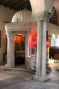 Der Reliquienschrein für die Gebeine des hl. Demetrios. Foto: KW.
