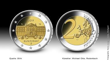 """Die neue 2-Euro-Gedenkmünze """"Bundesrat"""" ist die 14. Ausgabe der Serie"""