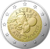Frankreich / 2 Euro / unedles Metall / 8,5 g / 25,75 mm / Auflage: 10.000.