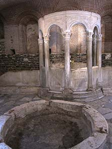 Center of the cult of Demetrios; the sacred oil was bottled here. Photograph: KW.
