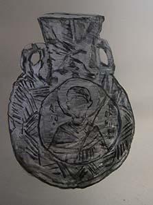 Flasche für das heilige Öl mit dem Bild des Demetrios. Foto: KW.