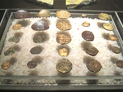 Find coins from the crypt where today a museum is located. Photograph: KW.