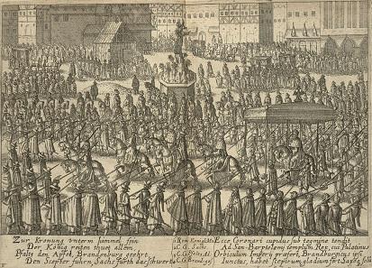 Coronation procession of Emperor Matthias I, 1612 in Frankfurt.