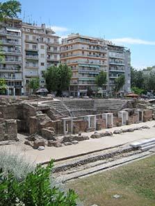 Griechische Agora von Thessaloniki. Foto: KW.