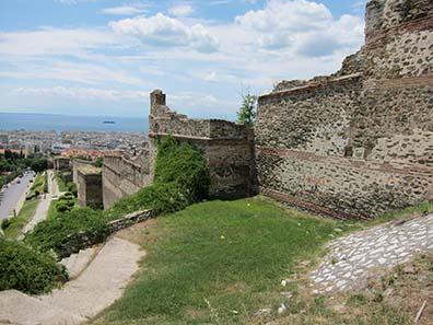 Die byzantinische Stadtmauer. Foto: KW.