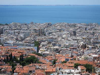 Ausblick auf Thessaloniki von der Oberstadt aus. Foto: KW.