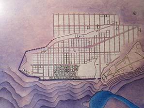 Der Lageplan von Olynthos, einer auf dem Reißbrett entworfenen Stadt. Foto: KW.)