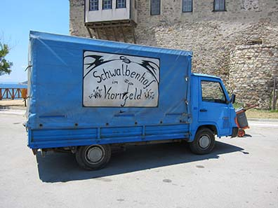 Old German trucks are in use for some more time in Greece. Photograph: KW.