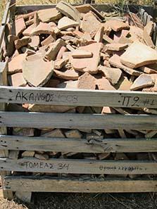 Grabungsfunde aus dem Jahr 2008. Foto: KW.