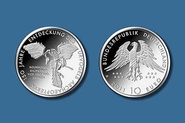 Der Siegerentwurf für die neue 10-Euro-Münze. Foto: Bundesamt für Bauwesen und Raumordnung.