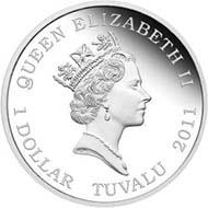 Tuvalu - 1 TVD - 1oz 999 silver - 31.135 g - 40.6 mm - Mintage: 5,000 - Designer: Tom Vaughan.