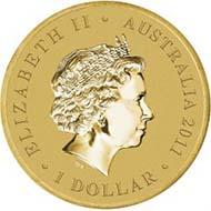 Australia - 1 AUD - Aluminium / Bronze - 13.80 g - 30.6 mm - Mintage: Unlimited - Designer: Elise Martinson.