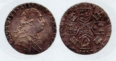 Sixpences from 1708, 1731 and 1787 - most probably it was coins like these that were counterfeited by Christian Murphy and his accomplice Catherine Heyland. Source: Baldwin's Auctions, London 52 (2007).