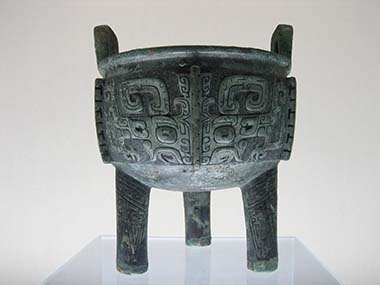 Liu ding, späte Shang Dynastie. Shanghai Museum. Foto: Mountain / Wikipedia.