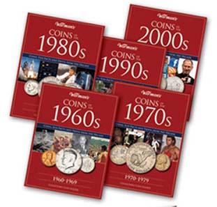 Decades coin folders.