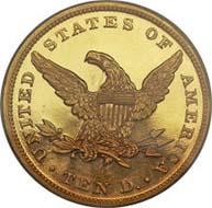 1863 $ 10. PR65.