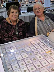 Jack H. Beymer and his wife, experts on US coins. Photograph: UK.