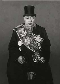 Pic. 2: Paul Kruger as President of the South-African Republic, photo taken in 1898.