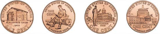1 cent special editions from 2009. Source: Wikipedia.