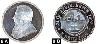 Abb. 4: Zuid Afrikaansche Republik. Paul Krüger, 1883-1902. 2 Shillings in Silber.