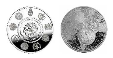 Mexico's 1-Peso struck in 1910 as replica.