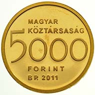 Hungary - 5000 Forint - 999 gold - 0.5 g - 11.0 mm - Max. mintage: 10,000 pcs, proof-like quality only - Designer: László Szlávics Jnr.