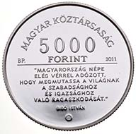 Hungary - 5000 Forint - 925 silver - 31.46 g - 36.61 mm - Max. mintage: 6,000 pcs, proof quality only - Designer: György Szabó (obverse), Mihály Fritz (reverse).