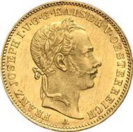 Vereinskrone 1864 A, Wien. J. 315. Aus Auktion Künker 195 (28. September 2011), 4174. Vorzüglich bis Stempelglanz. Schätzung: 7.000 Euro. - Die Vereinskronen zu 10 g waren nicht besonders beliebt: Sie besaßen keinen festen Kurs im Vergleich zu den Silbermünzen und hatten einen anderen Standard als die beliebten französischen Francs. Kein Wunder, dass diese Emission von 1864 nur aus 1.530 Exemplaren bestand.
