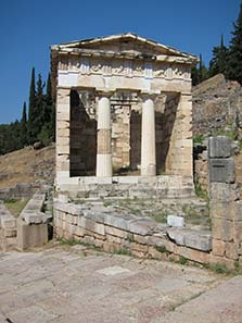 Athenian Treasury - please note the absence of any people. Photograph: KW.