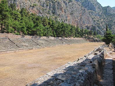 Das Stadion von Delphi. Foto: KW.
