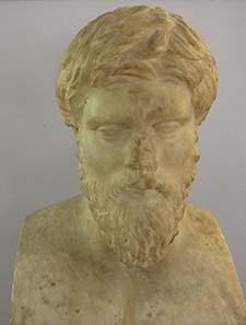 Standbild des Plutarch. Foto: KW.