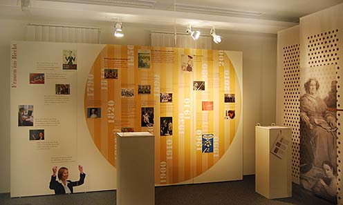 The exhibition focuses on women's role in the modern world of economy.