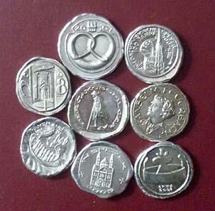 Medaillen von Victor Huster. Foto: Numismatische Gesellschaft Speyer.