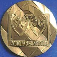 Medaille von Victor Huster. Foto: Numismatische Gesellschaft Speyer.