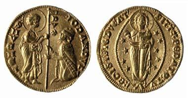 Venedig. Ducato. Giovanni Dandolo, 1285-1289 - 2,00 cm - 3,52 g. Museo Correr, Venedig.