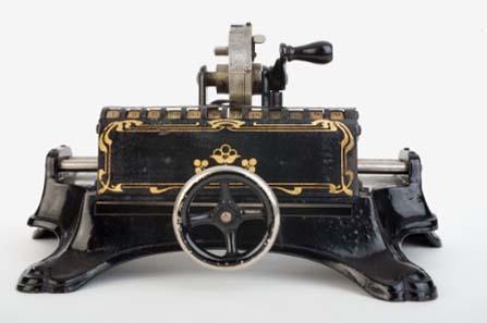 Früh übt sich: Rechenlernspielzeug der Nähmaschinenfirma Müller, ca. 1905.
