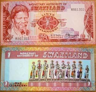 Swasiland lässt alle Geldscheine in Deutschland drucken; auch die Münzen werden dort geprägt.