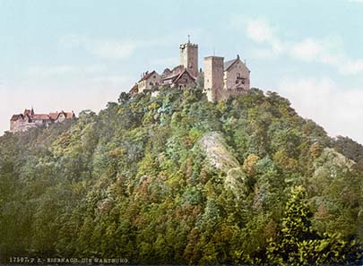 Wartburg um 1900. Quelle: Wikipedia.