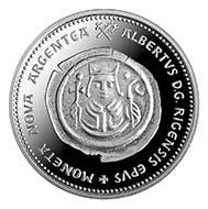 Latvia - 1 lats - 925 silver - 12.50 g - 12.0 mm - Mintage: 5,000 - Designer: Inta Sarkane (graphic design), Janis Strupulis (plaster model).