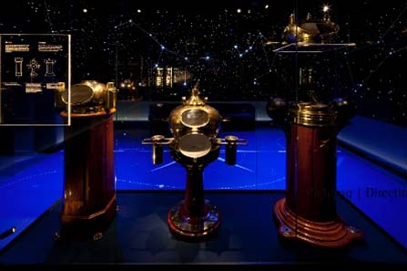 Het Scheepvaartmuseum, Amsterdam. Objektgalerie: Navigationsinstrumente. Foto: Michael Jungblut.
