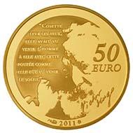 50 Euro - 1/4oz 920 gold - 8.45 g - 22 mm - Mintage: 3,000.