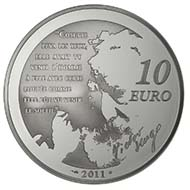 10 Euro - 900 silver - 22.2 g - 37 mm - Mintage: 10,000.