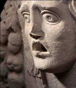 Limestone urn in the form of a vase (first century AD) © K.U. Leuven, Bruno Vandermeulen, Danny Veys.