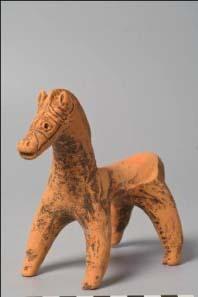 Ceramic horse miniature (ca. 400-600 AD). © K.U. Leuven, Bruno Vandermeulen, Danny Veys.