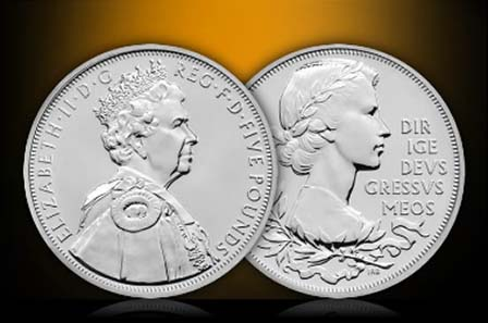 The new coin in occasion of Her Majesty The Queen's Diamond Jubilee in 2012.